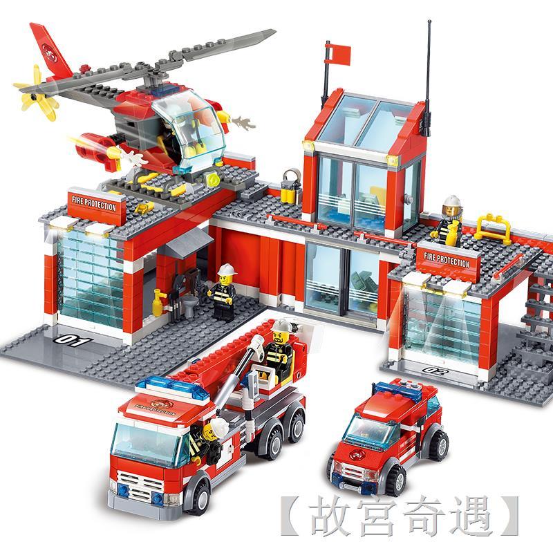 ✕✙✘樂高城市系列全套警察局警系局房子別墅積木男孩子拼裝益智力玩具