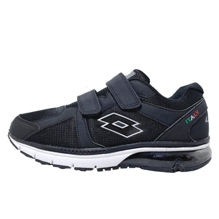金英鞋坊LOTTO樂得-義大利第一品牌 男款DELL 氣墊健走鞋 [0860] 黑