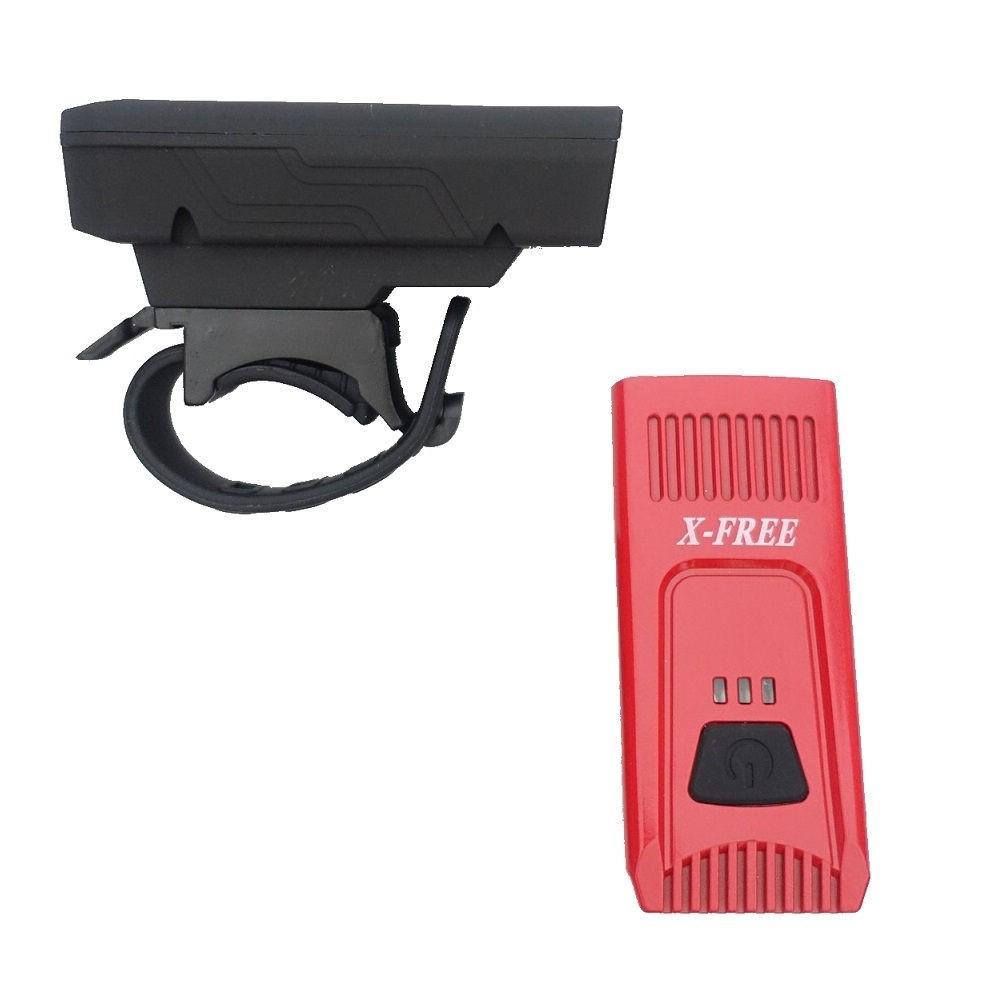X-FREE USB充電【掌心】車前燈 頭燈 電量顯示 (兩色選擇)