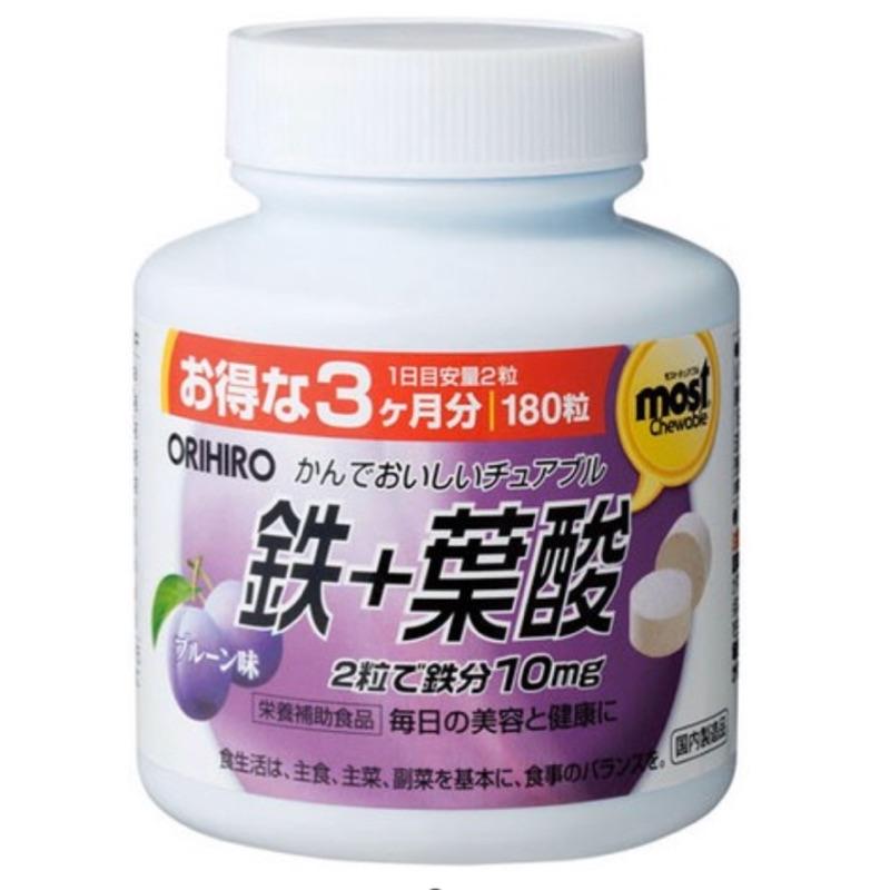 《現貨+預購》ORIHIRO 咀嚼錠 鐵劑 葉酸 維生素C B12 B6 日本代購