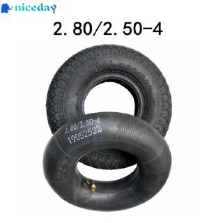 輪胎騎行運動替換零件 9 英寸 2.80 /  2.50-4 厚輪胎,  適用於老人電動踏板車黑色戶外有用