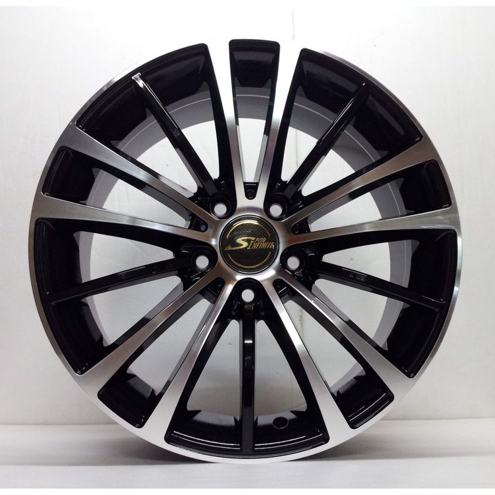 全新鋁圈 wheel S868 16吋鋁圈 4孔114.3 4孔108 5孔100 亮黑底車面