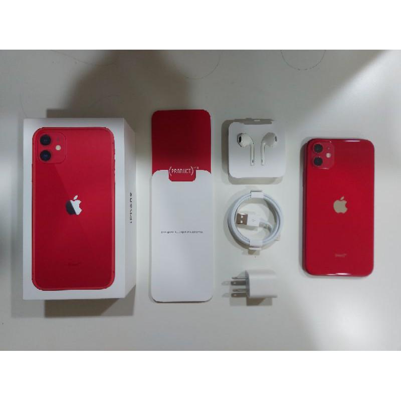 iphone 11 128G 紅色 二手機 配件全部全新沒用過 i11 iphone11