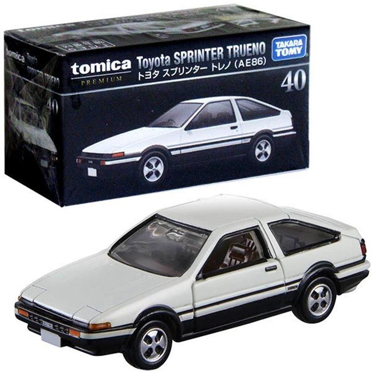 99:TOMY多美卡合金車TOMICA旗艦黑盒TP40號AE86白蓋 藤原拓海頭文字D