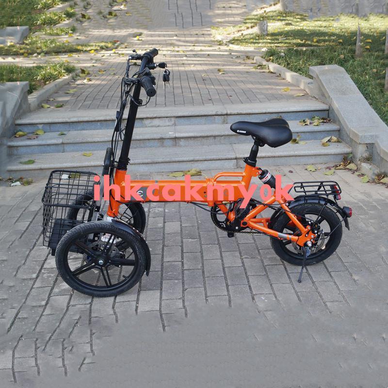 精品特惠//可折疊電動三輪車代步車小型家用倒三輪電瓶車電動自行車防側翻
