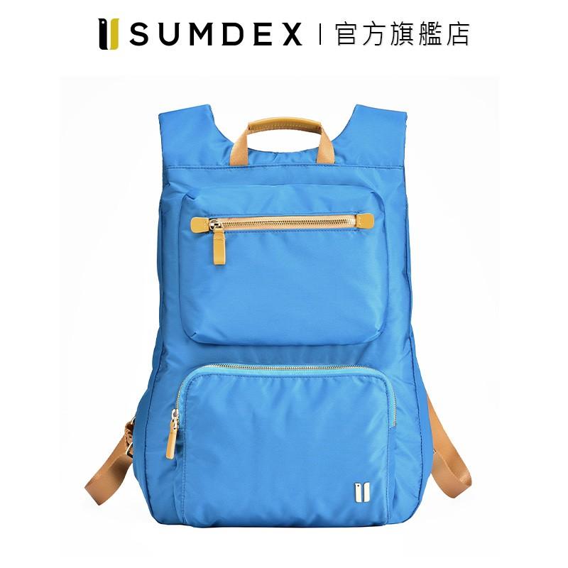 Sumdex|貼身輕巧薄型後背包 NOA-724PL 藍色 官方旗艦店