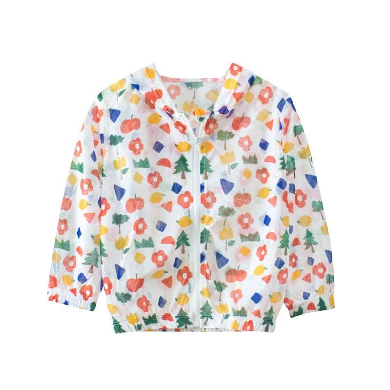品牌兒童防曬衣 夏季新款2021女童外套薄款運動衫 透氣女寶寶上衣服裝薄款外披