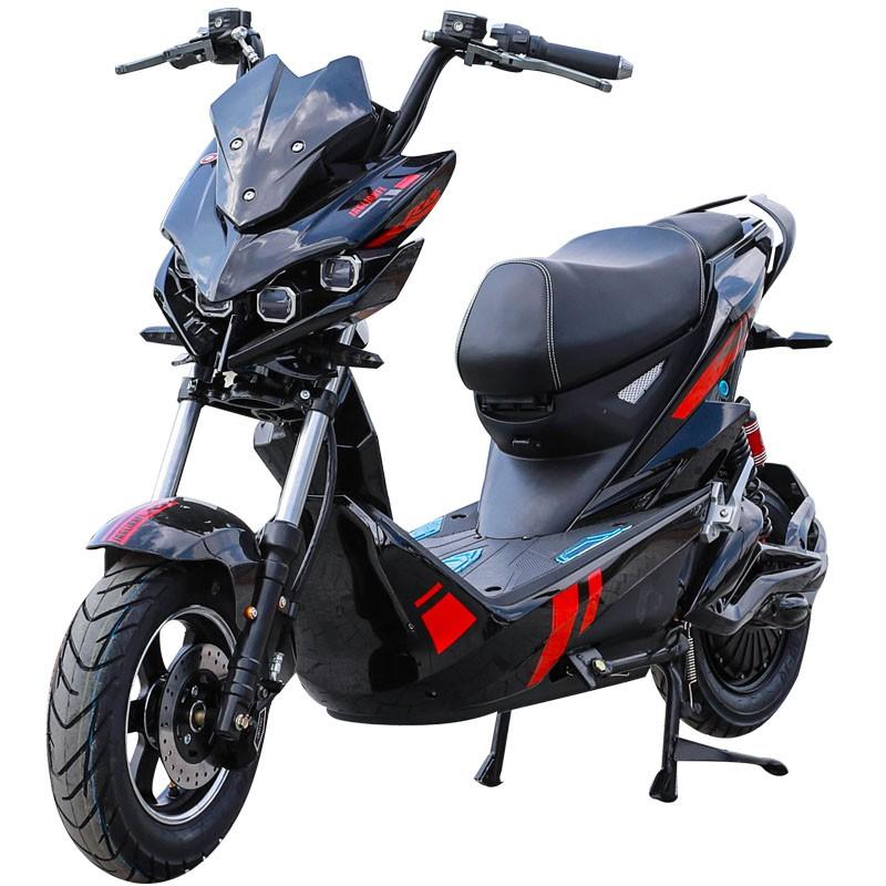 【台灣 免運】極客電動車 x戰警踏板電摩戰狼電瓶車 男改裝新款高速72v電動摩托車