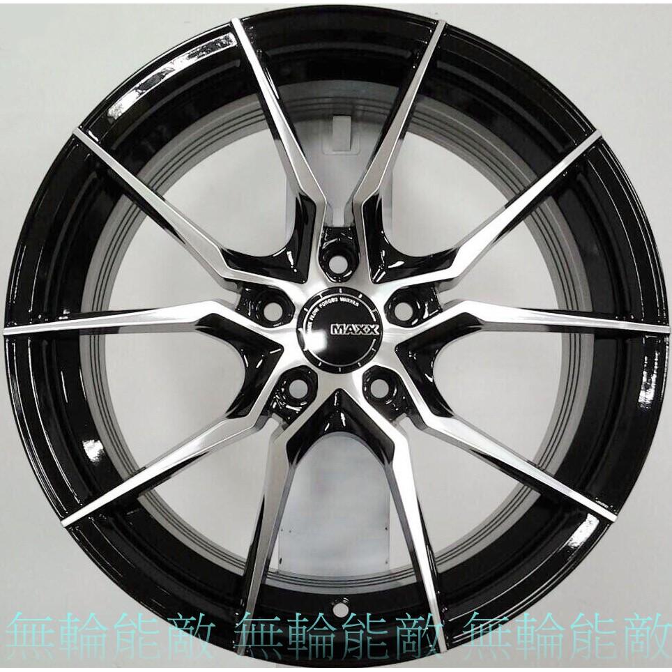全新鋁圈 MAXX M06 17吋 5孔114.3 黑底車面 旋壓輕量化