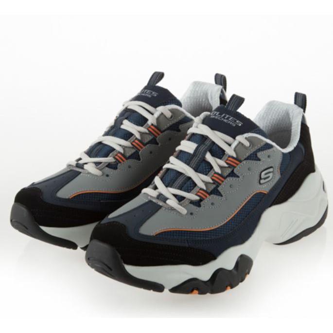 SKECHERS系列-D'LITES 3.0 男款藍灰白休閒鞋-NO.52686NVOR