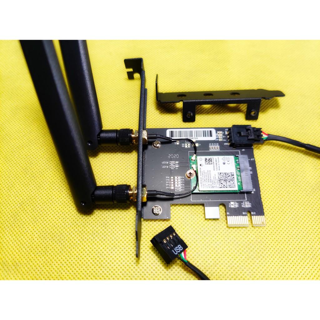 贈短擋板 Intel AX200 AX210 Wi-Fi 6 6E桌上型電腦無線網路卡 2.4G 5G藍牙5.1 5.2