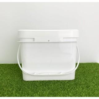 富佰客RichPAK 台灣製 8L食品級塑膠桶  塗料桶 化工桶 顏料桶 廚餘桶 萬用提桶 水桶 附密封蓋 環保 塑料桶