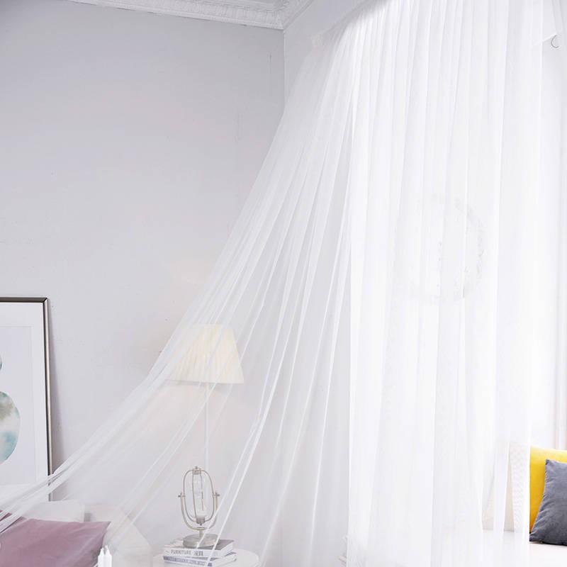 窗簾 魔術貼純色白紗窗簾窗紗紗簾免打孔自粘式布料短款粘貼式白紗陽臺