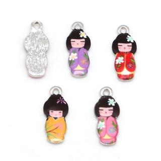 Aryastark 時尚設計 8x21mm 項鍊手鍊吊墜合金油滴日式娃娃魅力吊墜,  用於時尚飾品發現