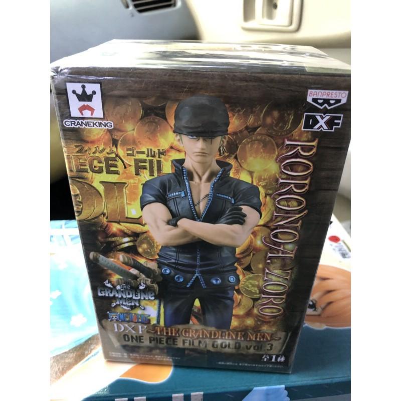 [售]日版 金證 海賊王 航海王 黃金城 黑衣 VOL.3 DXF GOLD 索隆 景品 內袋全新未拆 如圖
