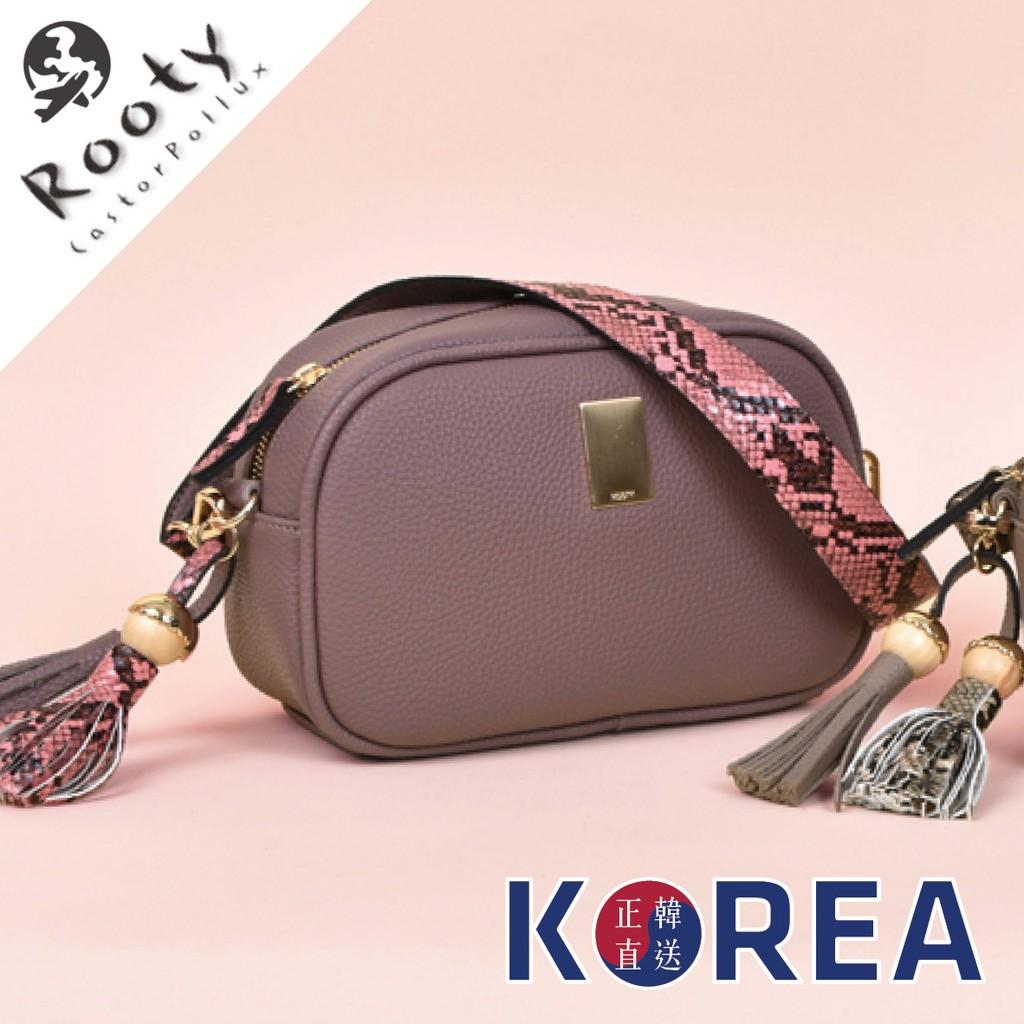ROOTY 正韓 R430 韓國代購 蛇紋背帶 小方包 相機包 肩背包 斜背包 側背包【FuLee Shop】