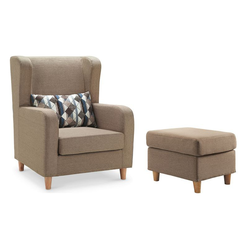 【YA317-5】艾斯卡淺咖啡單人座沙發