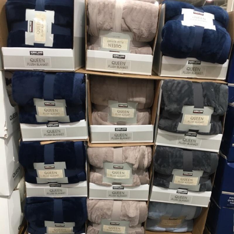 好市多 科克蘭 雙人舒適毯 248*233 公分Kirkland signature plush blanket