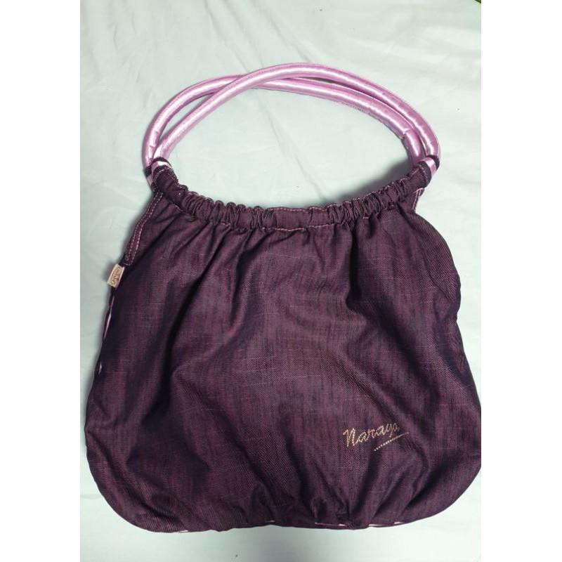 NaRaYa紫色奢華超級宇宙大容量曼谷包❤NaRaYa外出一日旅遊行李包❤可肩背
