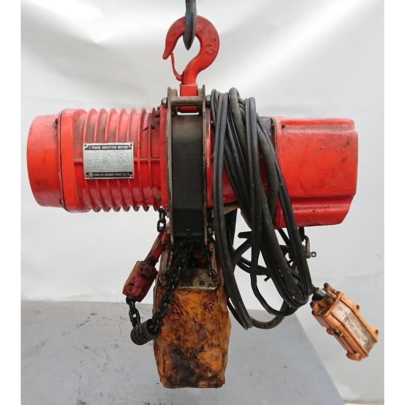 ◢ 簡便宜 ◣ 二手 永昇牌 吊車 鍊條式電動吊車 鋼鍊天車 鏈條式電動吊車 YSF-100