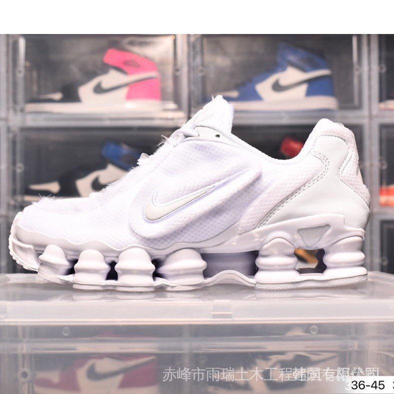 耐吉 NIKE SHOX TL X CDG 白銀鏈 走秀款 川久保玲 氣墊 厚底 增高 情侶鞋