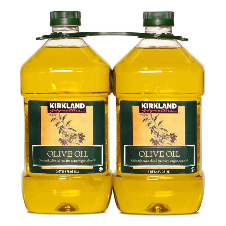 ☆好市多線上☆costco代購,Kirkland Signature 科克蘭 純橄欖油 3公升 X 2入/組,免代買費!