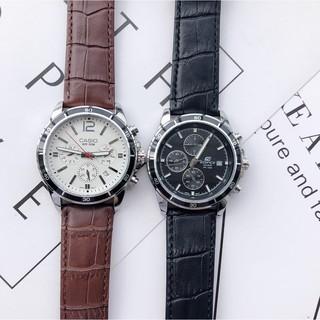 (現貨免運)CASIO 卡西歐 男士休閒時尚 六針多功能腕錶 夜光 精品表 精準跑秒 石英錶 三眼計時錶