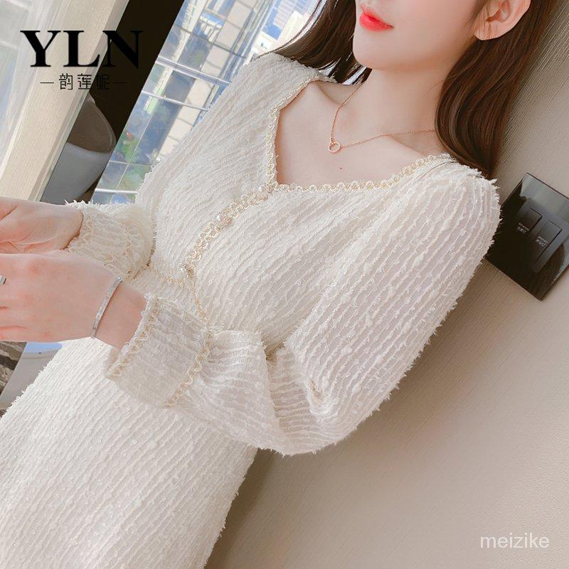 #時尚#新款熱賣#法式雪紡連衣裙子女裝春裝2021年新款潮設計感小眾高端洋氣打底裙