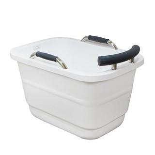 [日本公司貨]ambest/ 小方雙层壓克力獨立式浴缸BA1011/ 雙面壓克力結構高效保溫 臺北市