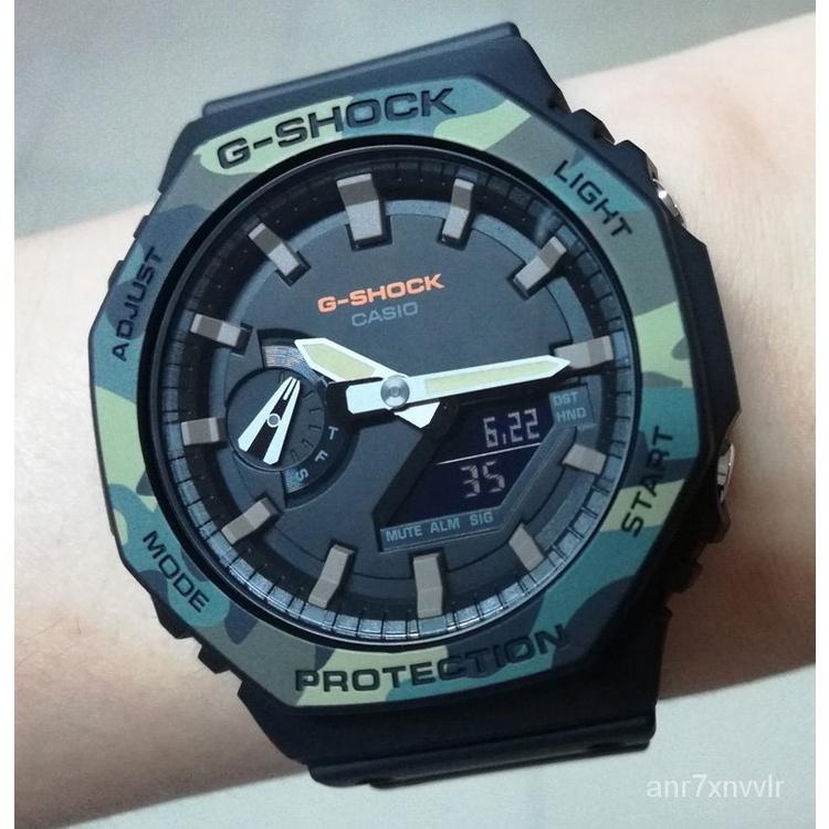 新款卡西歐G-SHOCK迷彩防水防震運動男手錶GA-2100SU-1/TH/2110SU-3A夏季新品 XHWS