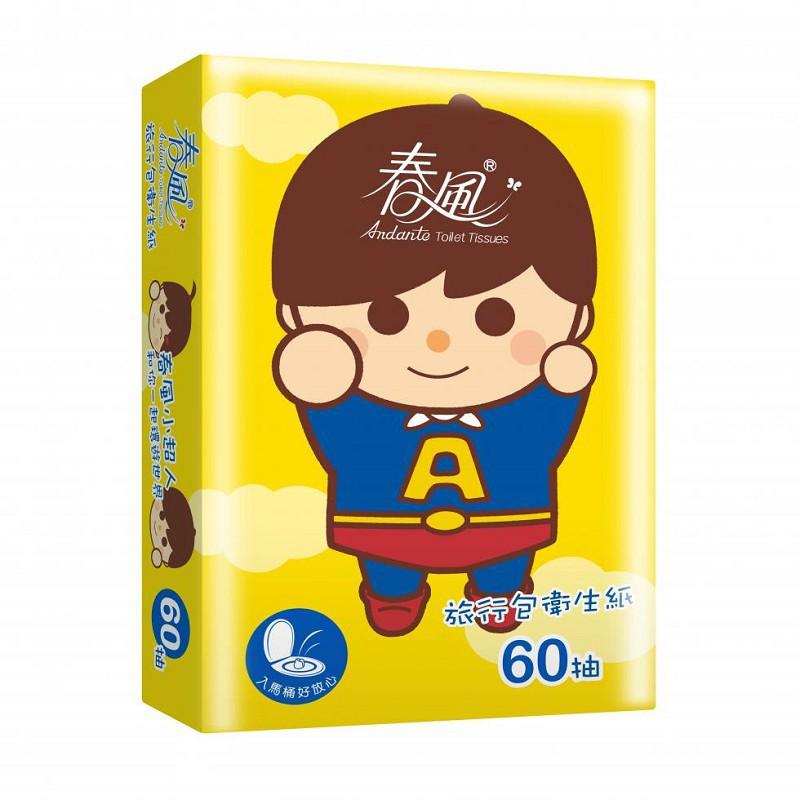 春風小超人面紙 60抽/90包/箱
