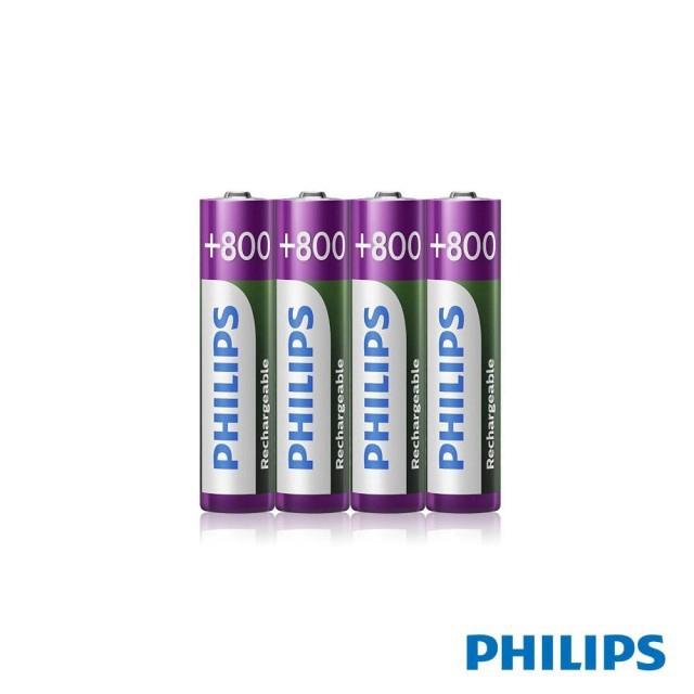 【PHILIPS】飛利浦 低自放充電電池 4號 4顆入 [富廉網]