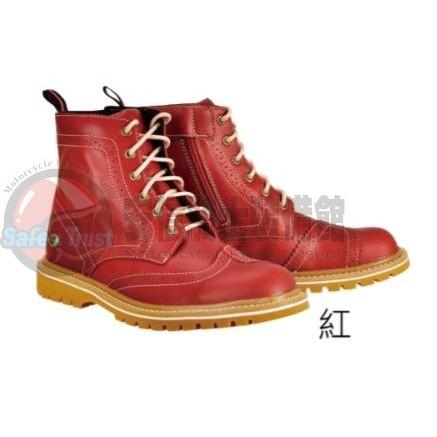 [安信騎士] EXUSTAR E-SBT106 ESBT106 紅 短靴 車靴 防摔靴 賽車靴