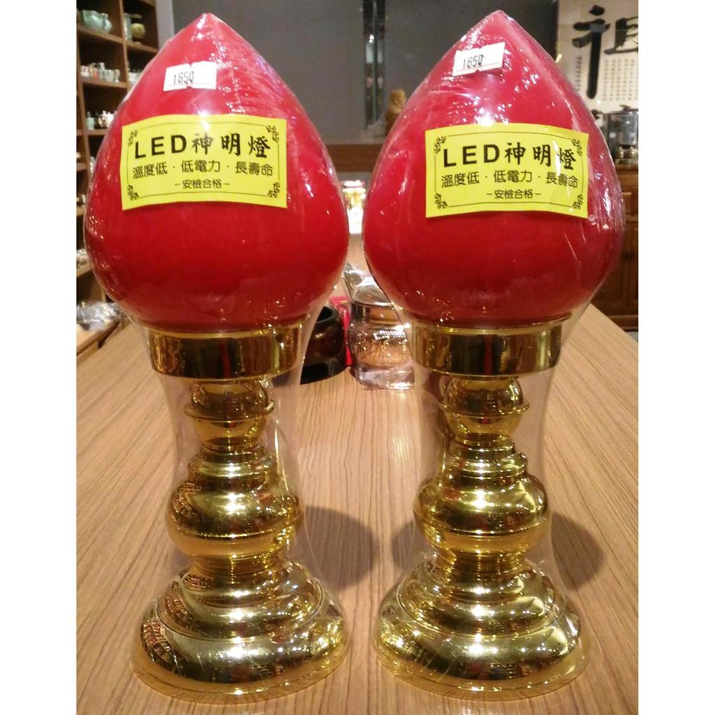台灣製 3號 LED 柑仔燈 塑鋼 福祿燈 神明燈 公媽燈 高1尺15 35公分