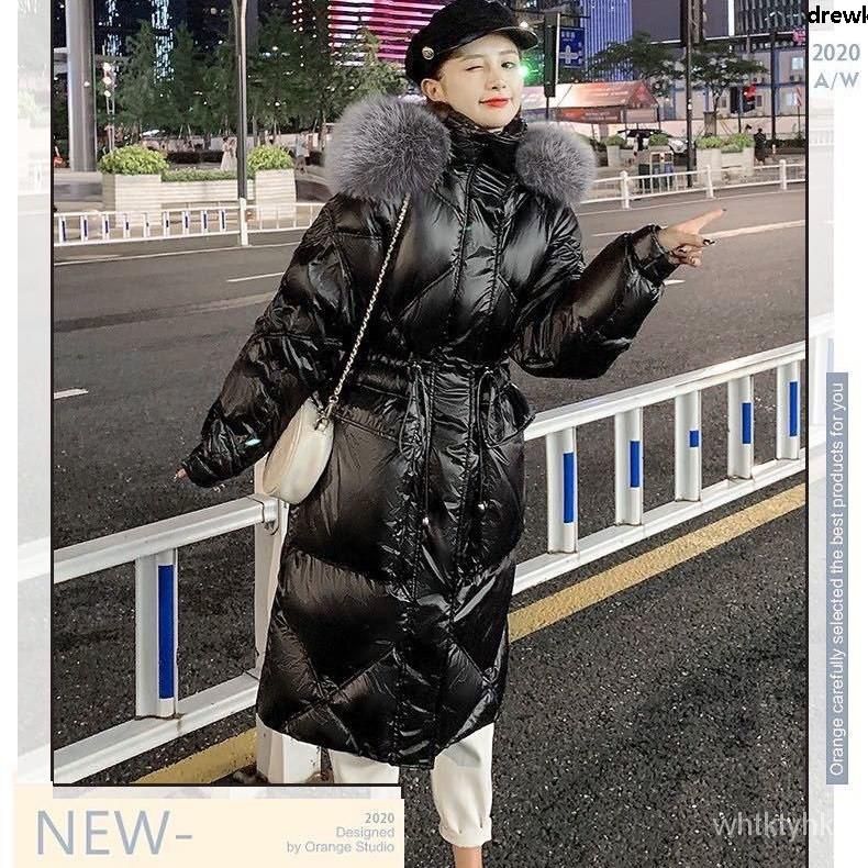 中長ins棉服冬季港風寬款過韓版羽絨2020棉襖外套膝加厚鬆新款女︴