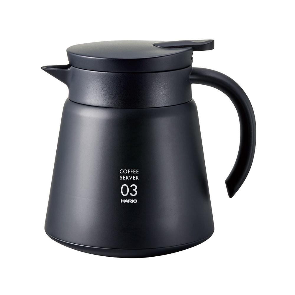 【日本HARIO】黑色真空03保溫壺 750ml《WUZ屋子》咖啡用品 咖啡壺 水壺