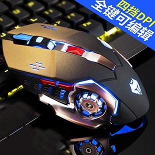 限時低價 快搶3200 DPI 6鍵遊戲滑鼠 LED光電滑鼠 電競滑鼠 無自定義滑鼠 呼吸燈 精準快不延遲 LOL CS