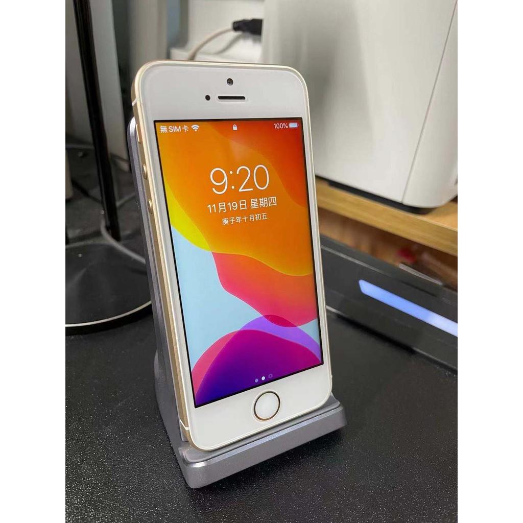 Apple iPhone SE 16G 金色 二手 4吋 蘋果手機 手機外觀9.5成新 電池健康度100% 台灣公司貨