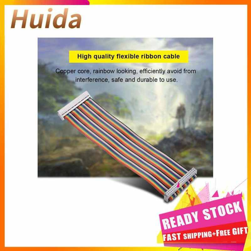 Huida 適用於Banana Pi Raspberry的40Pin GPIO帶狀扁平適配器電纜線