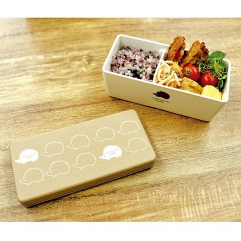 現貨 日本製 北歐風 MOZ 刺蝟便當盒 餐盒 便當盒 餐具 森林餐盒 刺蝟 野餐 藍/拿鐵