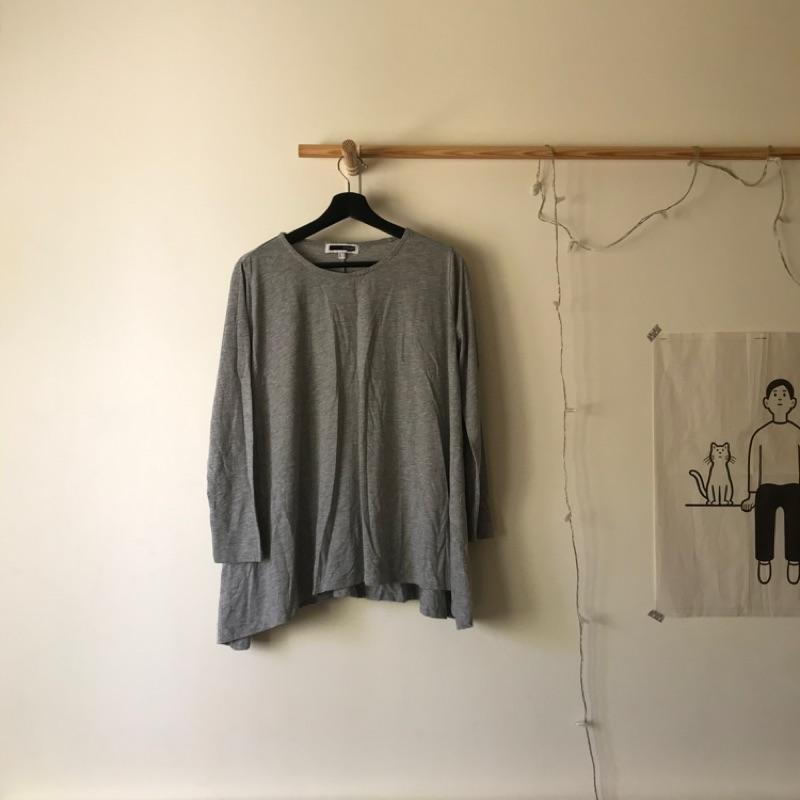 H connect灰色傘狀 彈性棉質上衣